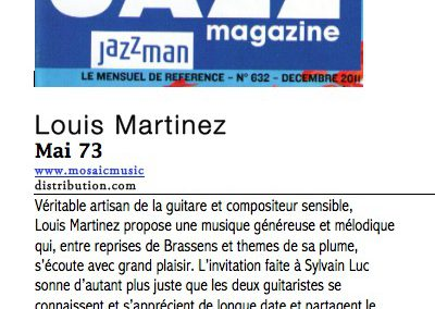 Chronique Mai 73 Jazz Mag